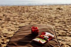 Día de fiesta de la Navidad en la playa Foto de archivo libre de regalías