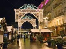 Día de fiesta de la Navidad en Moscú, Rusia Fotografía de archivo