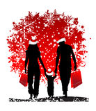 Día de fiesta de la Navidad, familia Fotografía de archivo libre de regalías