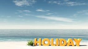 Día de fiesta de la playa Fotografía de archivo libre de regalías