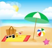 Día de fiesta de la playa Foto de archivo libre de regalías