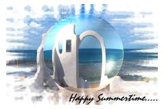 Día de fiesta de la playa del tiempo de verano Imágenes de archivo libres de regalías