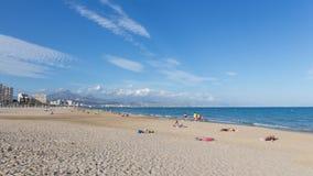 Día de fiesta de la playa en España Fotos de archivo libres de regalías