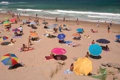 Día de fiesta de la playa, Portugal Imagen de archivo libre de regalías