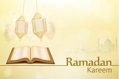 Día de fiesta de la religión del fondo del kareem del Ramadán ilustración del vector