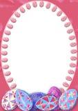 Día de fiesta de Pascua. Huevos de la mancha de óxido. Ilustración del Vector