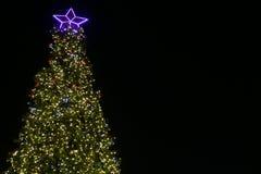 Día de fiesta del Año Nuevo del árbol de navidad de las luces Imágenes de archivo libres de regalías