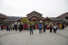 Día de fiesta del Año Nuevo de la montaña de Nanning Qingxiu de la visita de la gente Imágenes de archivo libres de regalías