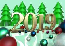 Día de fiesta del Año Nuevo Navidad Fotografía de archivo