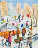 Invierno del día de fiesta libre illustration