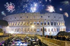 Día de fiesta del ` s de Colosseum y del Año Nuevo Fotos de archivo