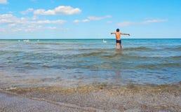 Día de fiesta en el mar Báltico, Polonia fotos de archivo
