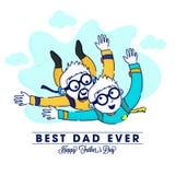 Día de fiesta feliz de Day del padre que celebra el fondo con el padre y el hijo