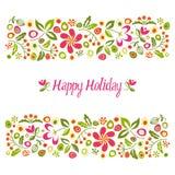 Día de fiesta feliz de la tarjeta