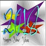 Día de fiesta feliz 2018 de la Feliz Año Nuevo fotos de archivo libres de regalías