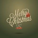 Día de fiesta - Feliz Navidad feliz del marco Fotos de archivo