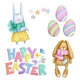 Día de fiesta fijado con los elementos festivos Pascua feliz