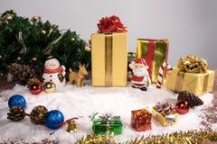 Día de fiesta de la decoración de la Navidad o Año Nuevo con Santa Claus y sn Foto de archivo libre de regalías