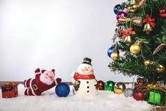 Día de fiesta de la decoración de la Navidad o Año Nuevo con Santa Claus y sn Fotografía de archivo libre de regalías
