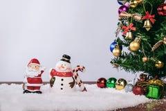Día de fiesta de la decoración de la Navidad o Año Nuevo con Santa Claus y sn Imagen de archivo