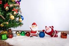 Día de fiesta de la decoración de la Navidad o Año Nuevo con Santa Claus y sn Fotos de archivo libres de regalías