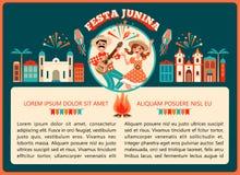 Día de fiesta latinoamericano, el partido de junio del Brasil Ilustración del vector Fotos de archivo libres de regalías