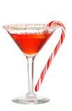 Día de fiesta martini con un bastón de caramelo Fotos de archivo