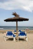 Día de fiesta perfecto en la playa Imagen de archivo libre de regalías