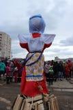 Día de fiesta popular ruso Shrovetide, en Gatchina, región de Leningrad, imagen de archivo libre de regalías