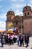 Día de fiesta religioso en Cuzco, Perú Fotografía de archivo
