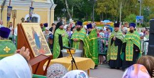 Día de fiesta religioso en Rusia Imágenes de archivo libres de regalías