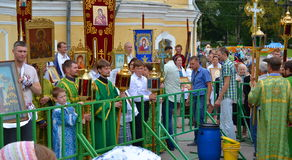 Día de fiesta religioso en Rusia Fotos de archivo