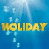 Día de fiesta subacuático Fotos de archivo libres de regalías
