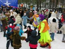 Día de fiesta ucraniano Maslenitsa (semana de la crepe) Foto de archivo libre de regalías