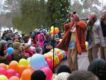 Día de fiesta ucraniano Maslenitsa (semana de la crepe) Imágenes de archivo libres de regalías
