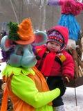 Día de fiesta ucraniano Maslenitsa (semana de la crepe) Imagen de archivo libre de regalías