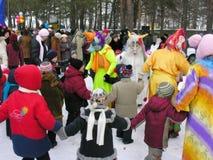 Día de fiesta ucraniano Maslenitsa (semana de la crepe) Fotos de archivo