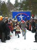 Día de fiesta ucraniano Maslenitsa (semana de la crepe) Foto de archivo