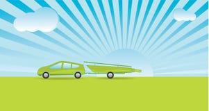 Día de fiesta verde del canotaje Foto de archivo libre de regalías