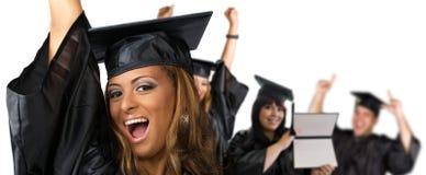 Día de graduación feliz Fotos de archivo libres de regalías