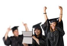 Día de graduación feliz Imágenes de archivo libres de regalías