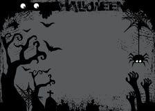 Día de Halloween fantasma negro del palo y de la calabaza Fotos de archivo