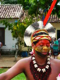 Día de Indigenan de la celebración de Oporto Seguro Foto de archivo