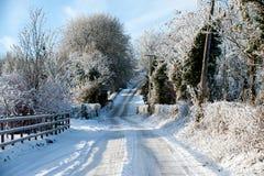 Día de invierno en el país Imagen de archivo libre de regalías