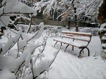 Día de invierno en Ereván Foto de archivo libre de regalías