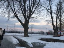 Día de invierno en Kiev Fotos de archivo libres de regalías