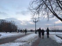 Día de invierno en Kiev Fotografía de archivo libre de regalías