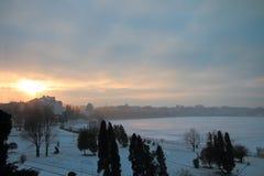 Día de invierno en la ciudad Fotografía de archivo libre de regalías