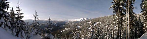 Día de invierno en las montañas Fotos de archivo libres de regalías