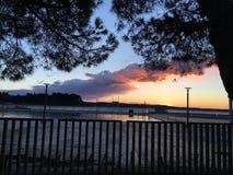 Día de invierno en Portorose Imagenes de archivo